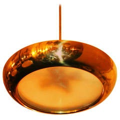 Bauhaus Functionalism Copper Pendant by Josef Hurka for Napako