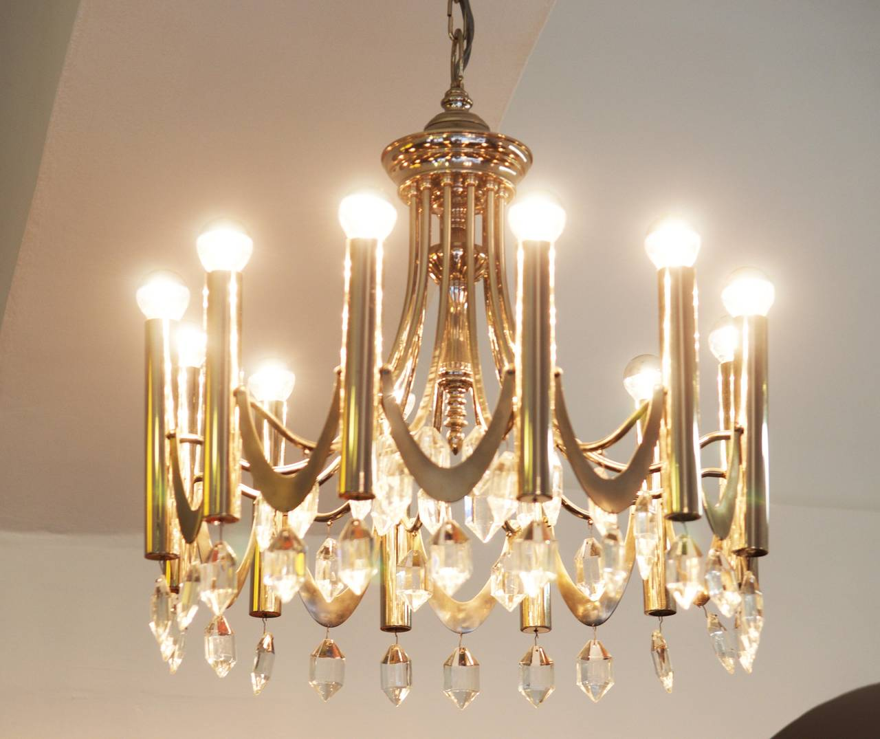 Large Chandelier Attributed to Gaetano Sciolari from 1960s For Sale 3