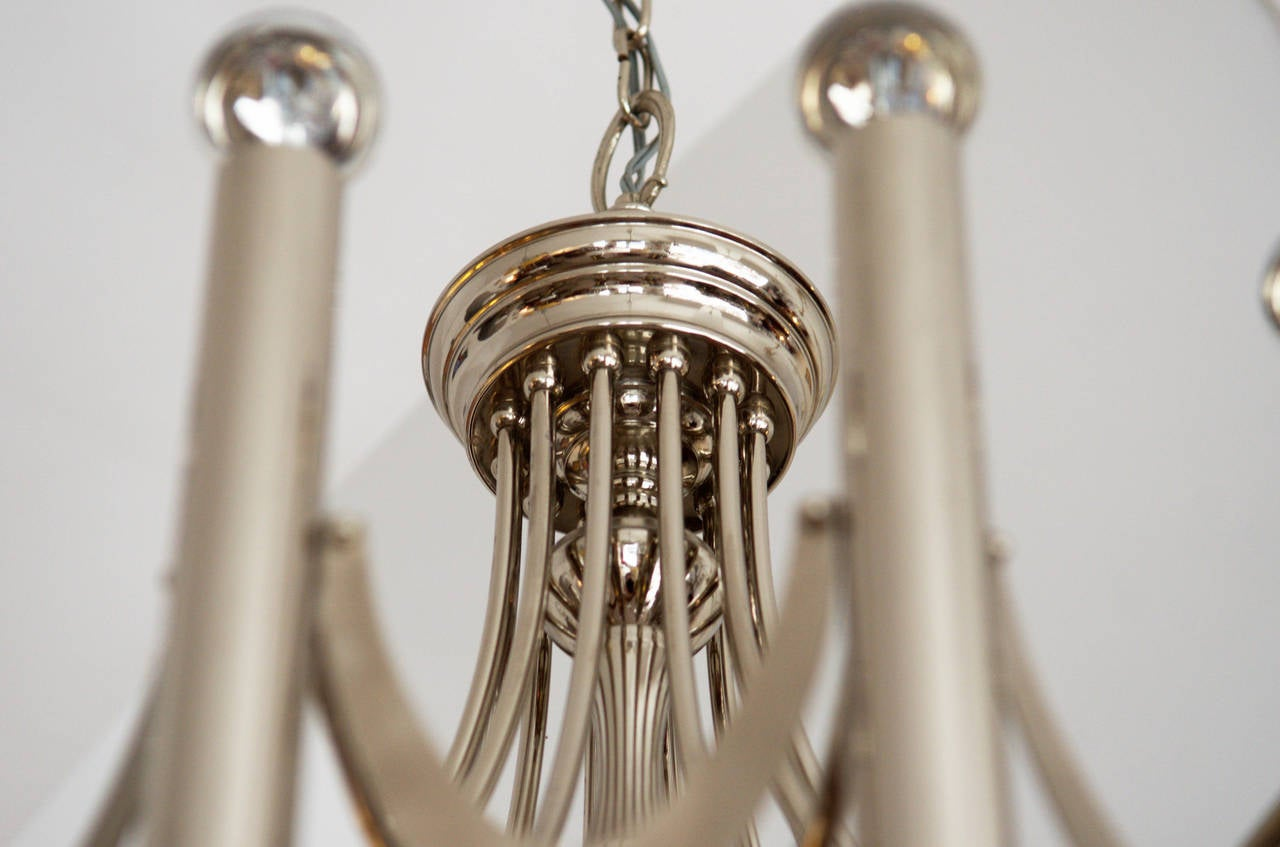 Mid-Century Modern Large Chandelier Attributed to Gaetano Sciolari from 1960s For Sale