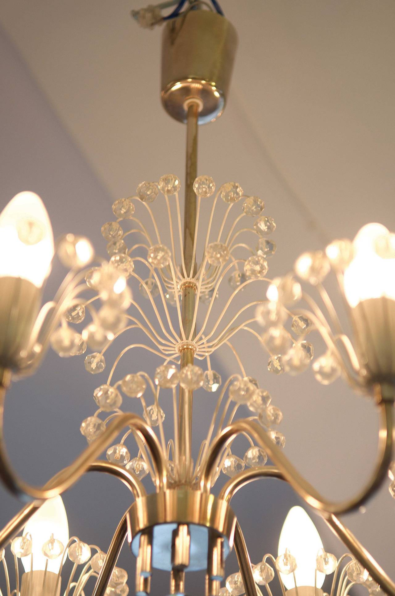 Mid-20th Century Mid-Century Fountain Chandelier by Emil Stejnar for Rupert Nikoll For Sale
