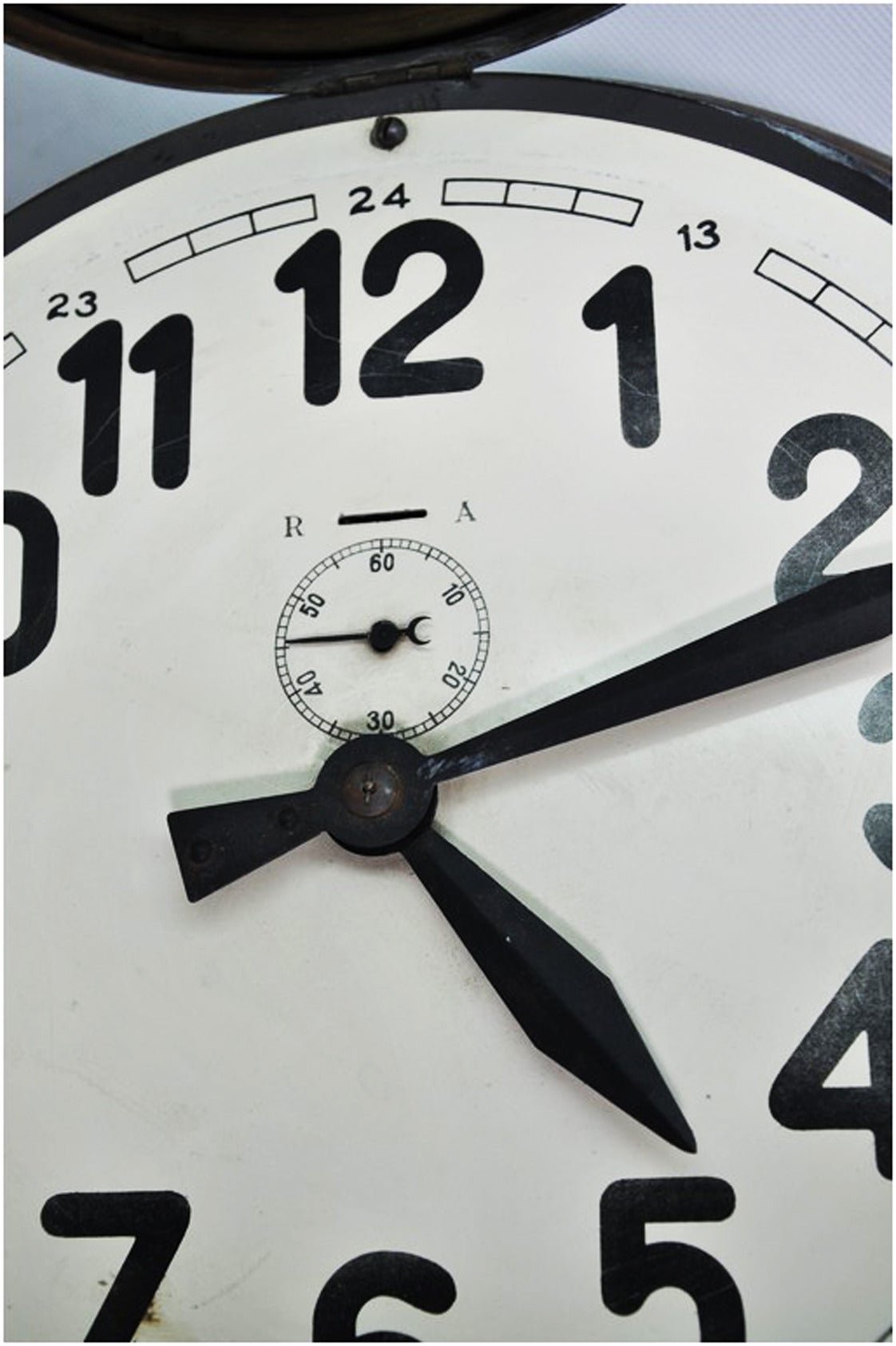 Mid-20th Century Brass Art Deco Wall Clock