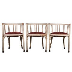 Set of Three Thonet Armchairs