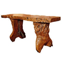 Antique Chinese Burl Wood Table
