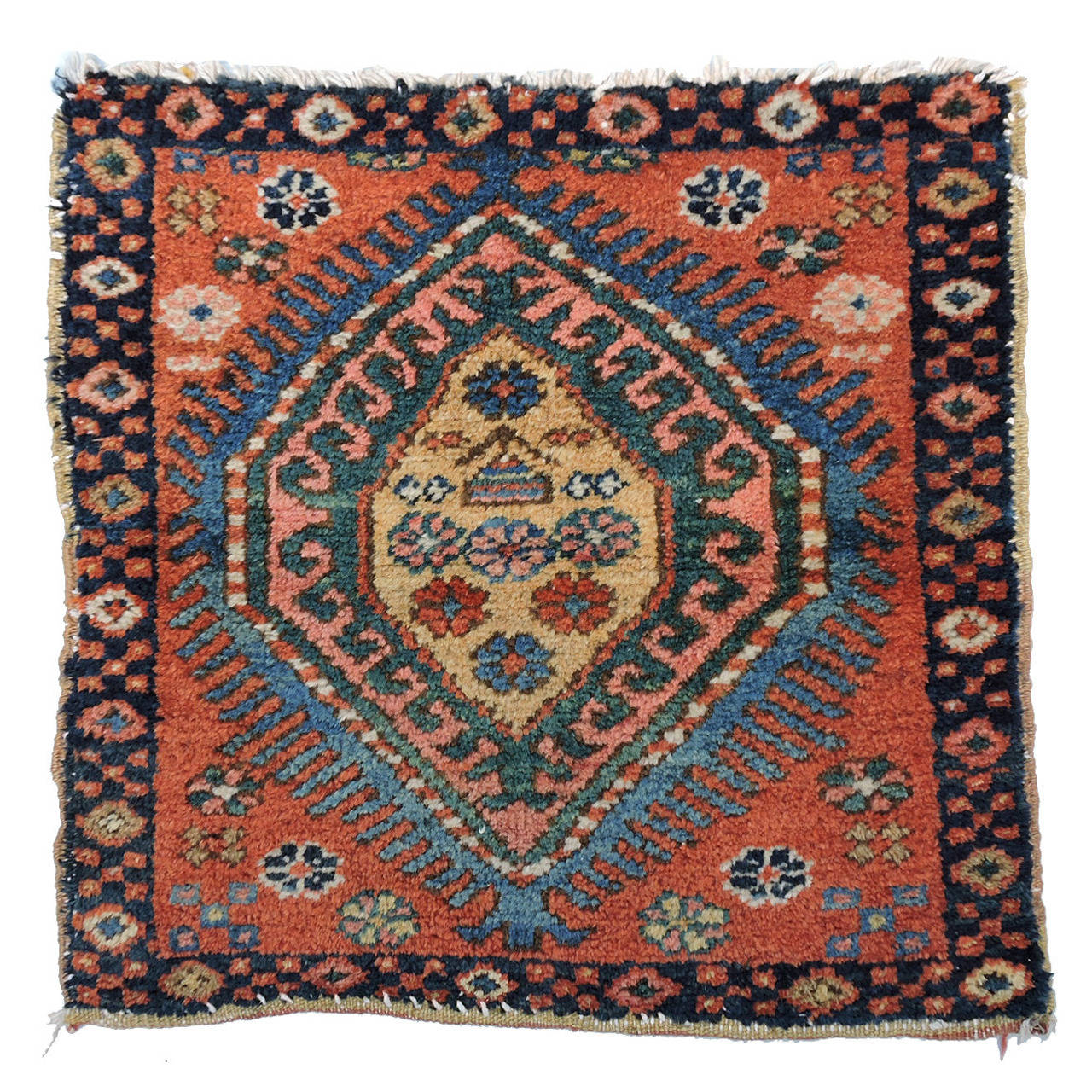 Chinese Rug Dealers: Antique Tribal Oriental Rug Heriz Mat For Sale At 1stdibs