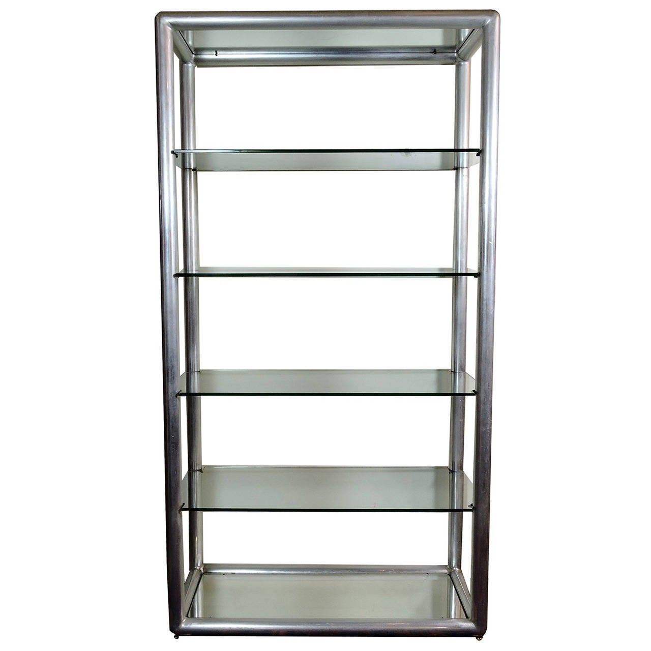 Mid century modern aluminum and glass five tier etagere for sale at 1stdibs - Etagere aluminium design ...