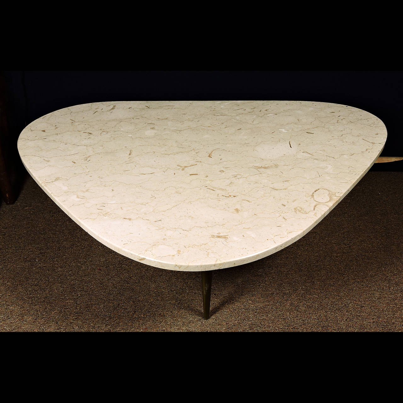 Mid Century Modern Marble Top Low Table By Weiman At 1stdibs