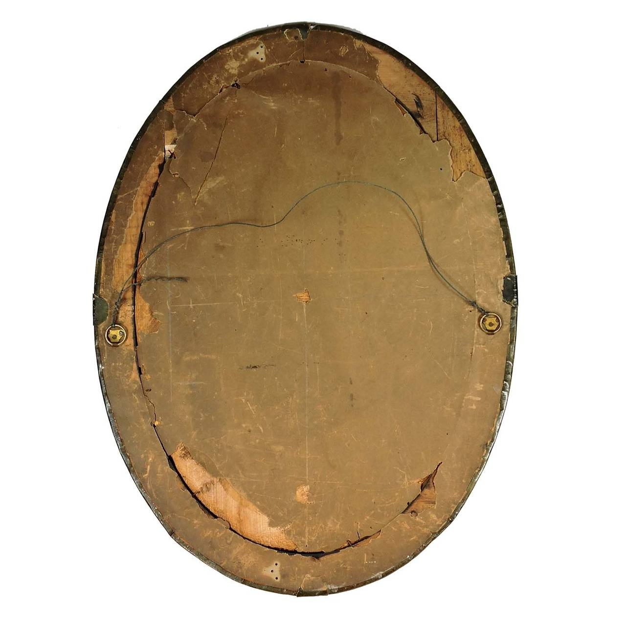 Arts and crafts mirrors - English Arts Crafts Hammered Brass Oval Mirror 3