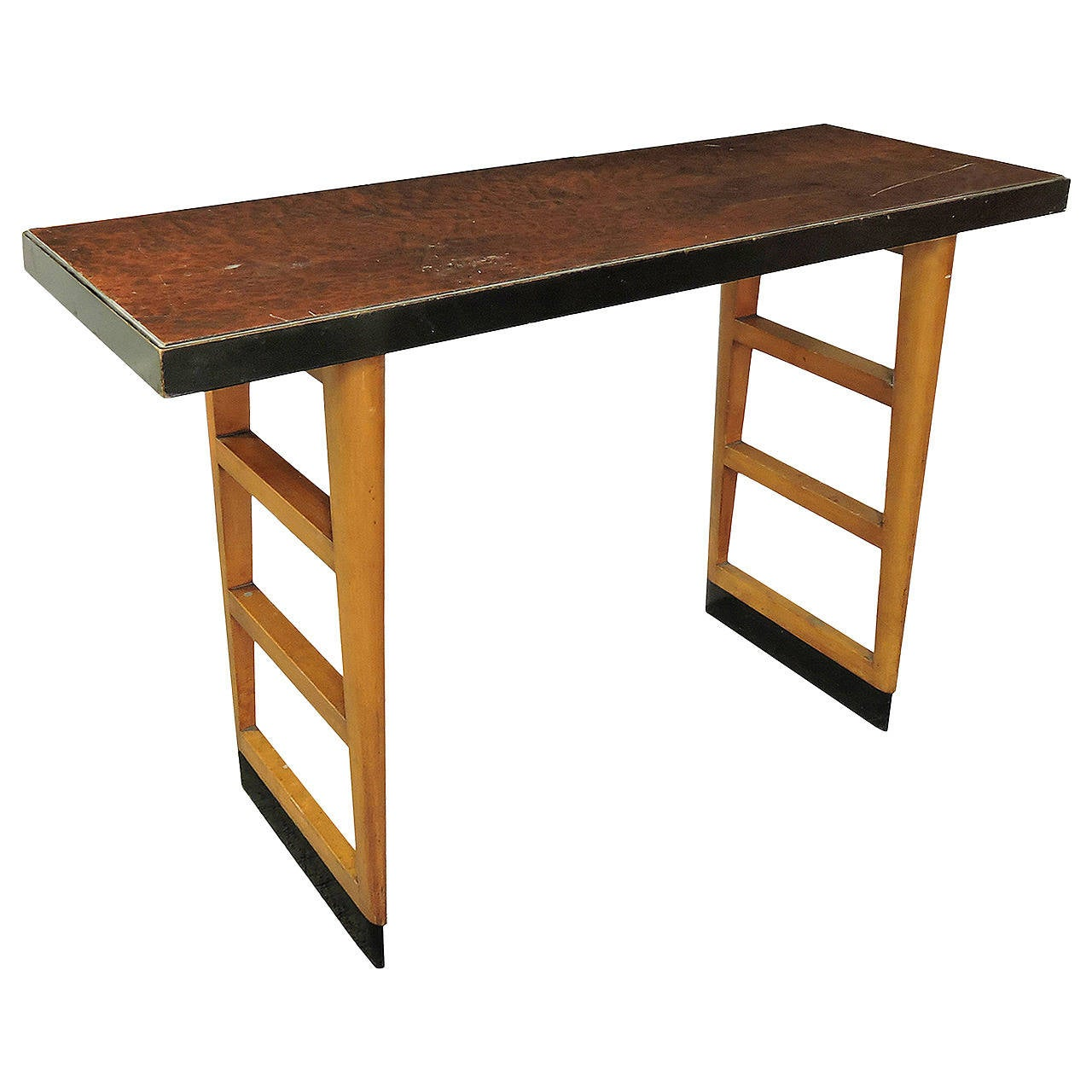 Lane Burl Wood Coffee Table: Mid-Century Modern Burl Wood Console Table At 1stdibs
