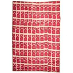 19th Century Uzbek Silk Ikat Panel