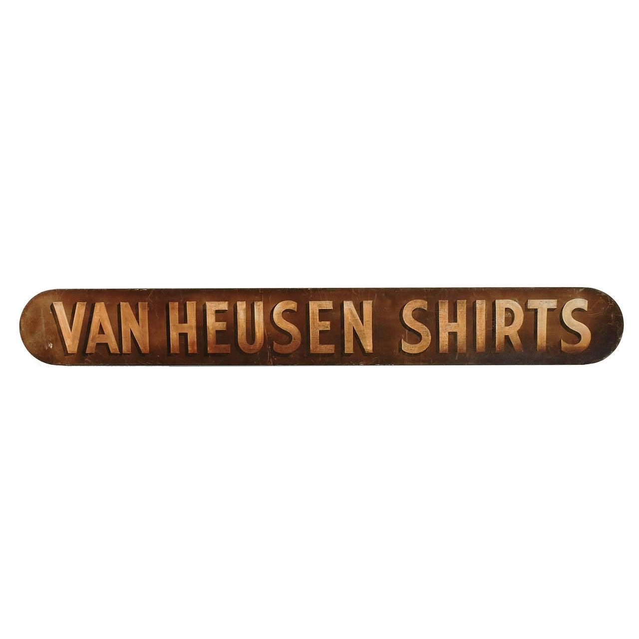Vintage Van Heusen Shirts Advertising Sign
