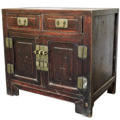 Chinese Elmwood Two-Drawer Chest, Early 19th Century