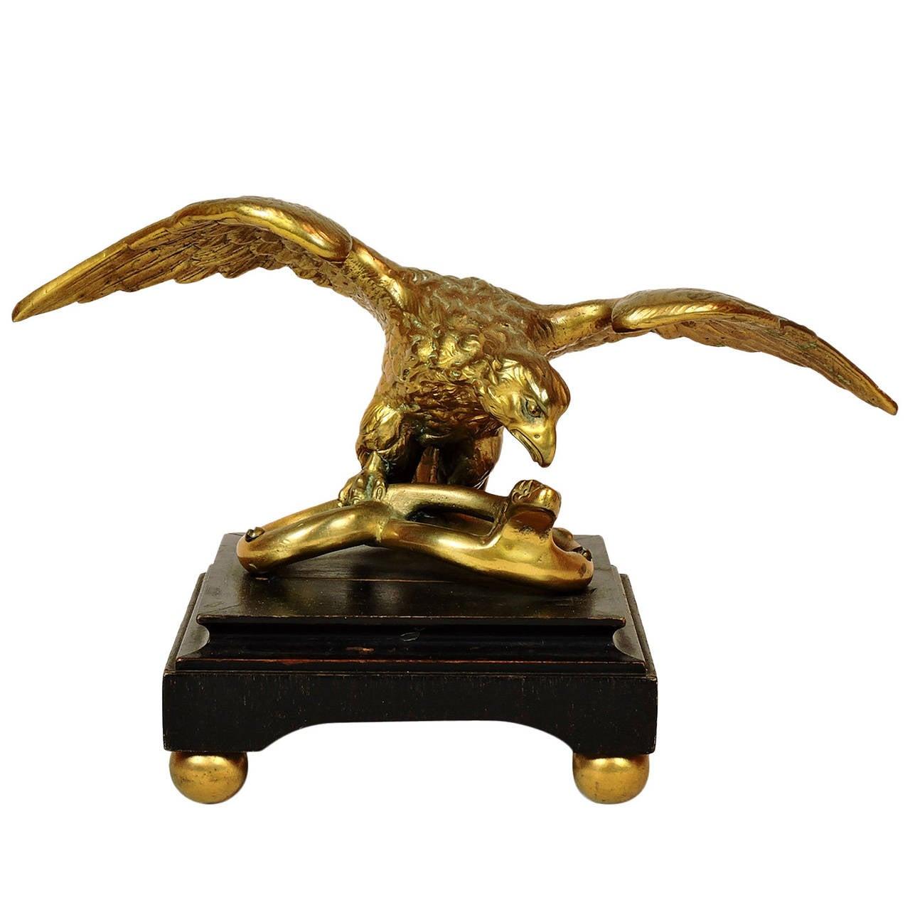 Gilt Bronze Figure of an Eagle Desk Accessory