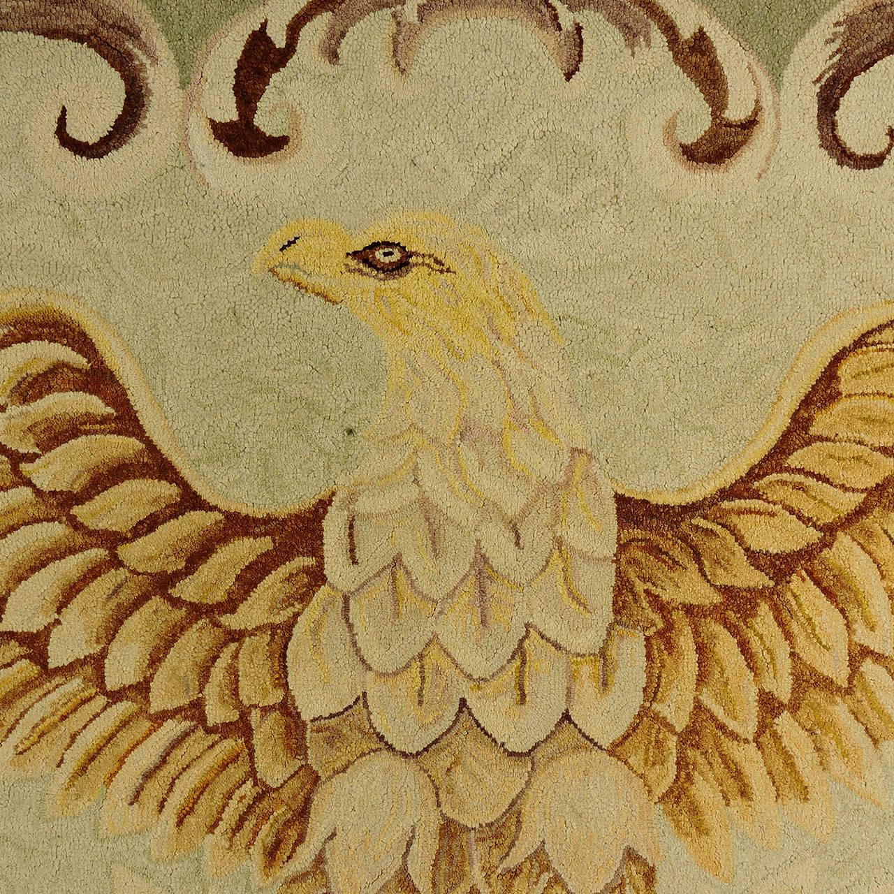 oval office carpet eagle. Oval Office Carpet Eagle. Impressive American Folk Art Hand-hooked Eagle Rug, 19th O