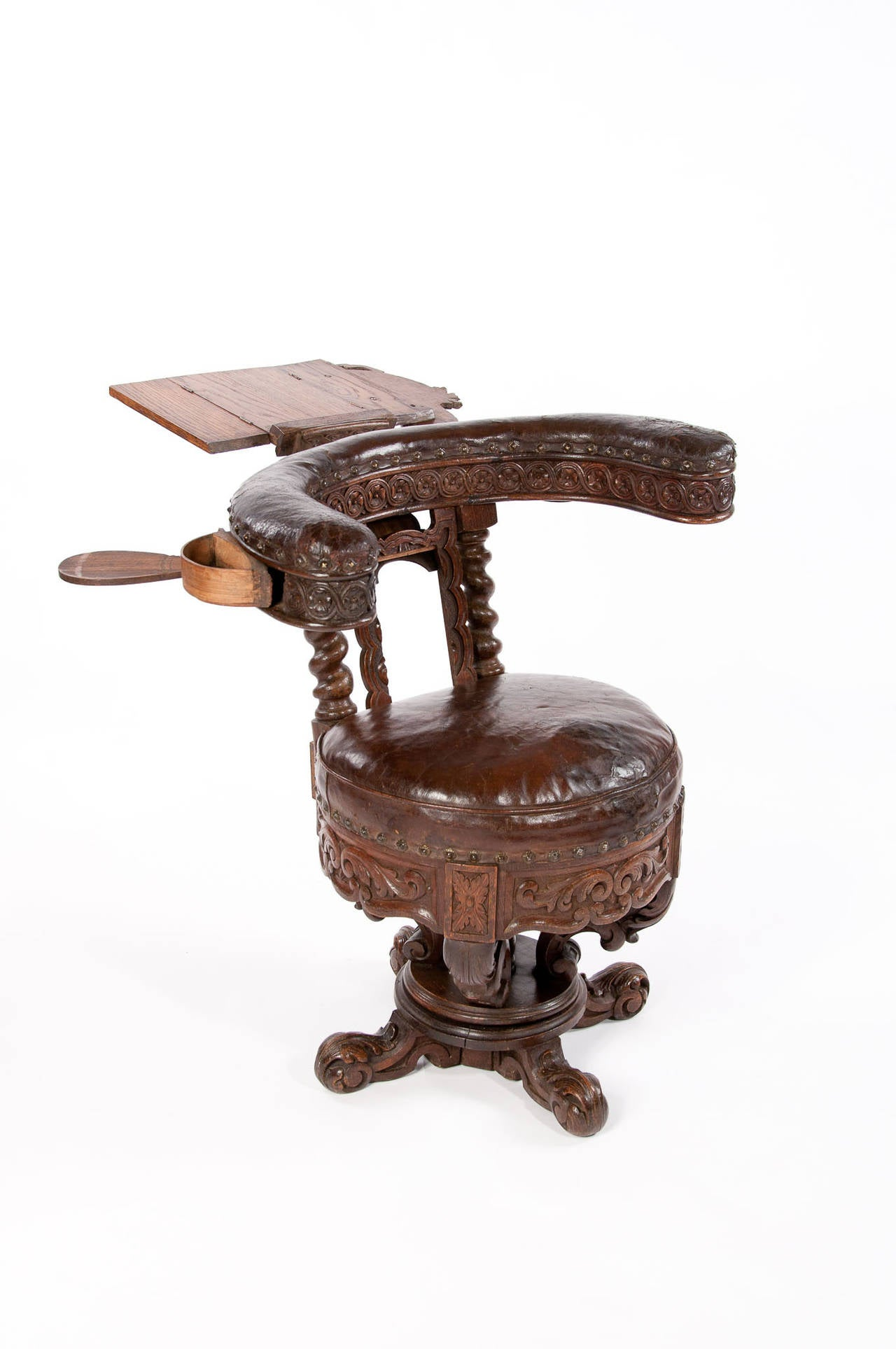 Rare 19th Century Oak Cock Fighting Chair At 1stdibs