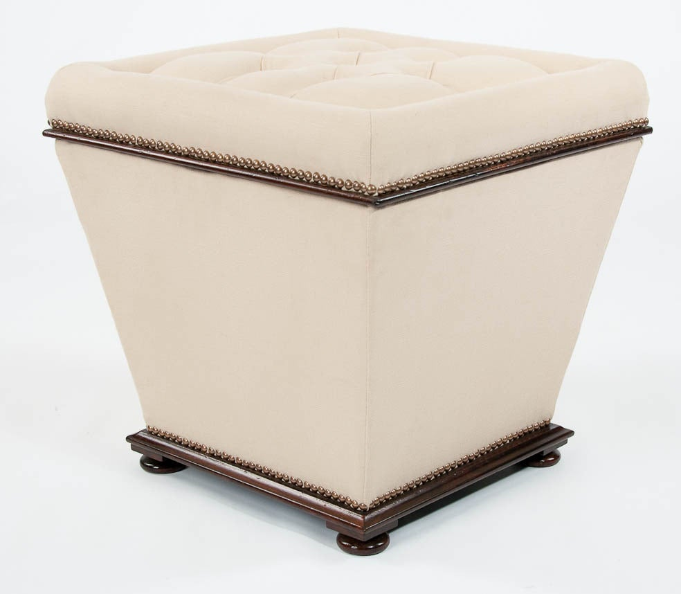 William Iv Or Early Victorian Rosewood Upholstered Ottoman