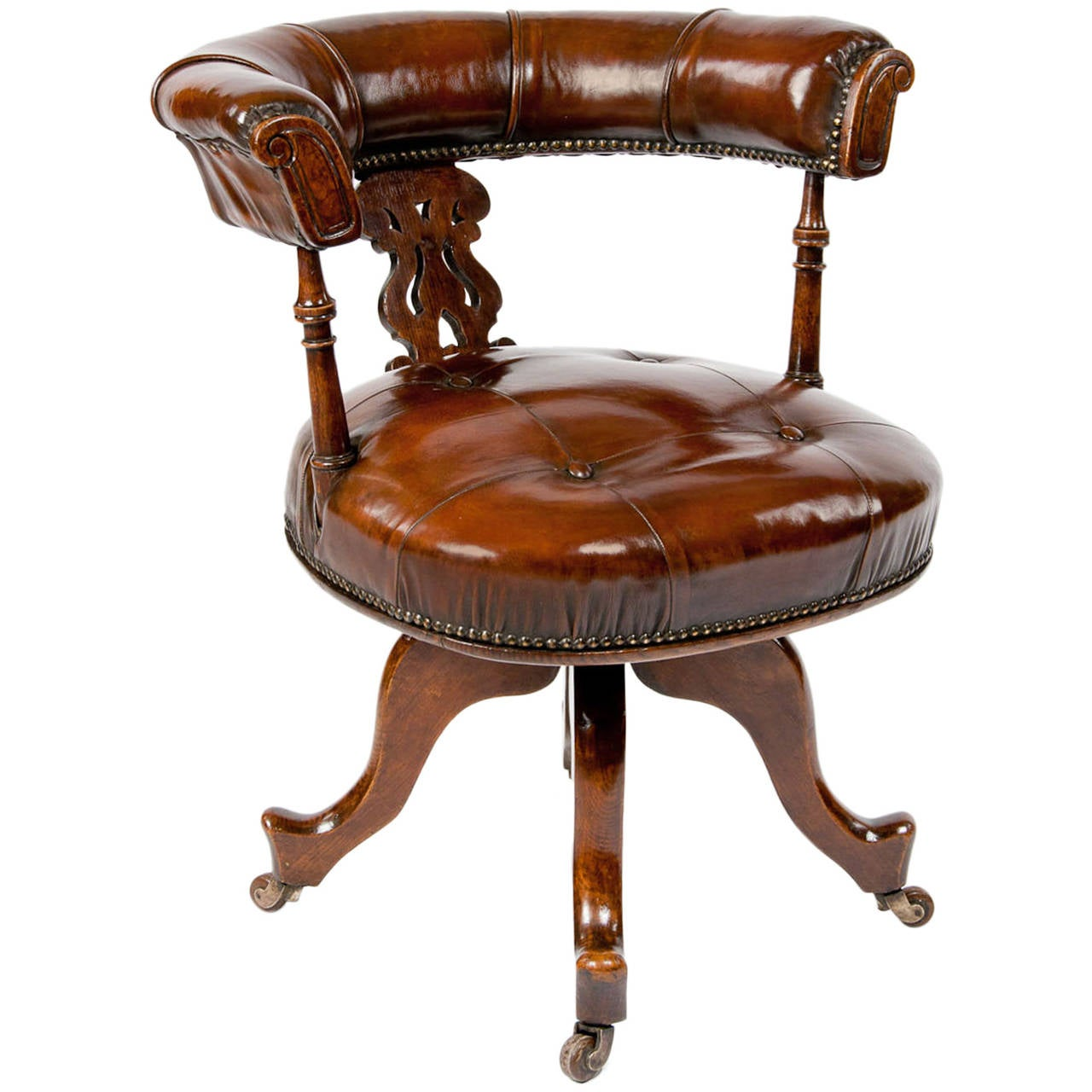 Bent plywood office chair - This Victorian Leather Upholstered Desk Chair Is No Longer Available