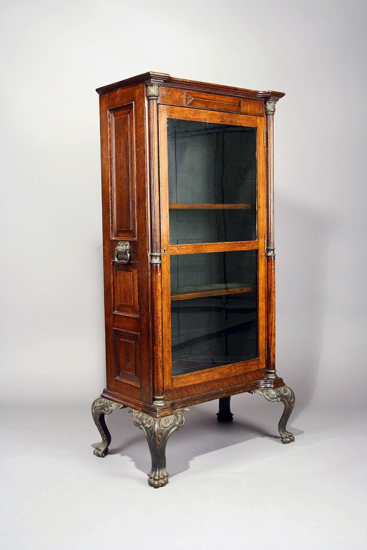 Victorian Oak Cabinet On Cast Iron Feet At 1stdibs