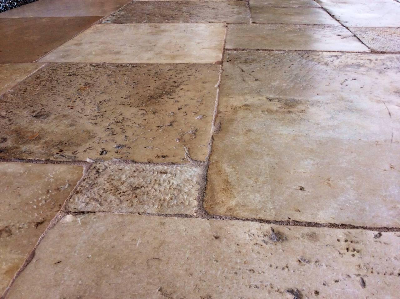 Antique dalle de bourgogne original french stone floors - Dalle de bourgogne ...