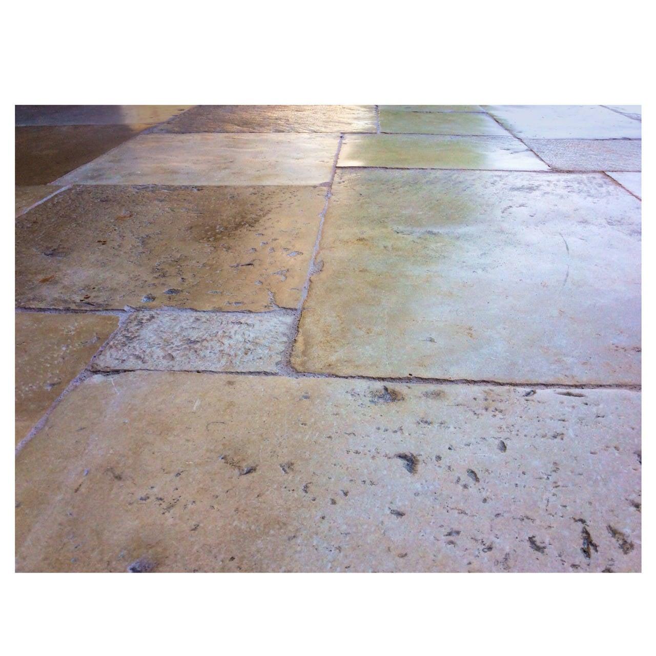 Antique french limestone floors dalle de bourgogne 17th - Dalle de bourgogne ...