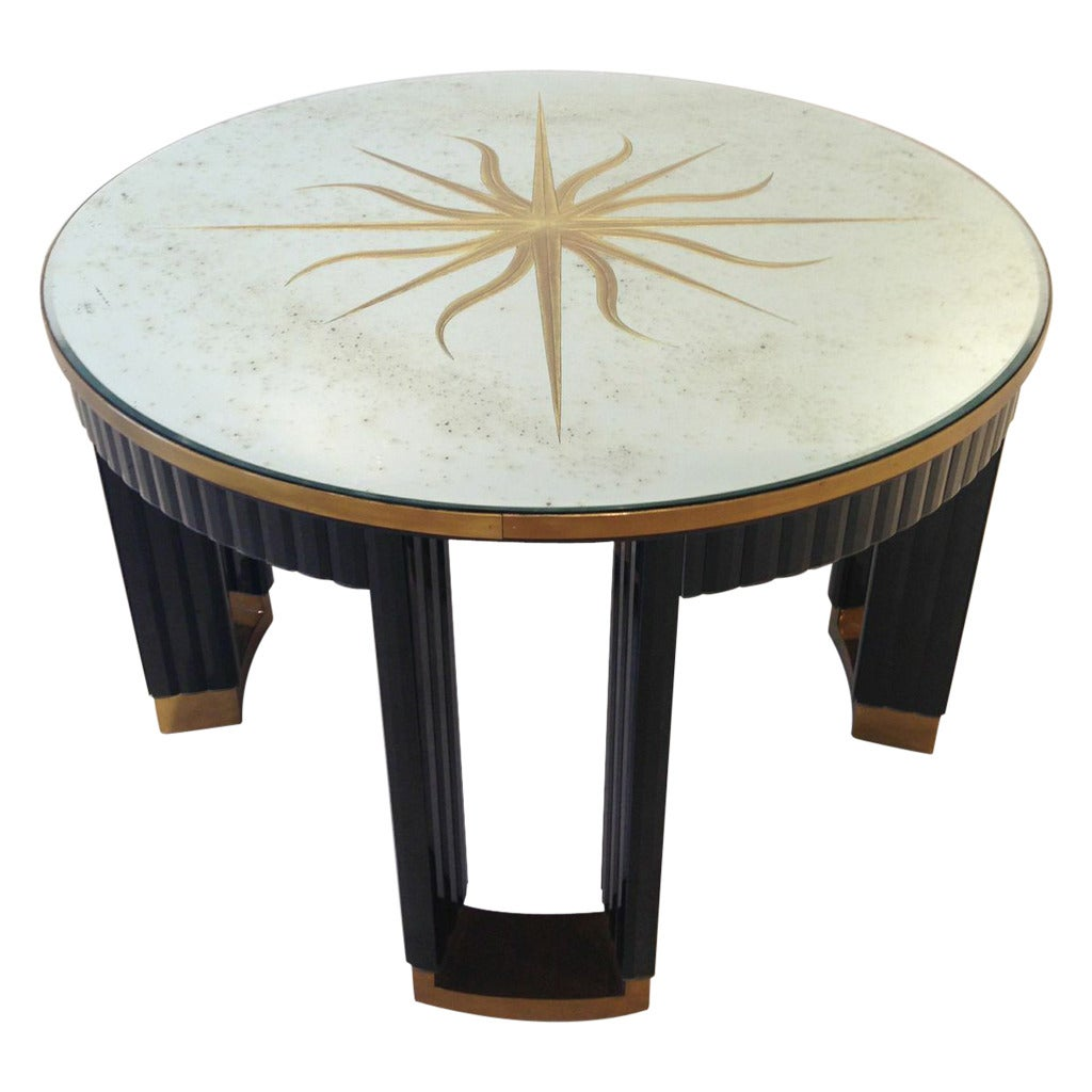 Center Table With Glass : Sorry, this item from Emily Summers Studio is not available.