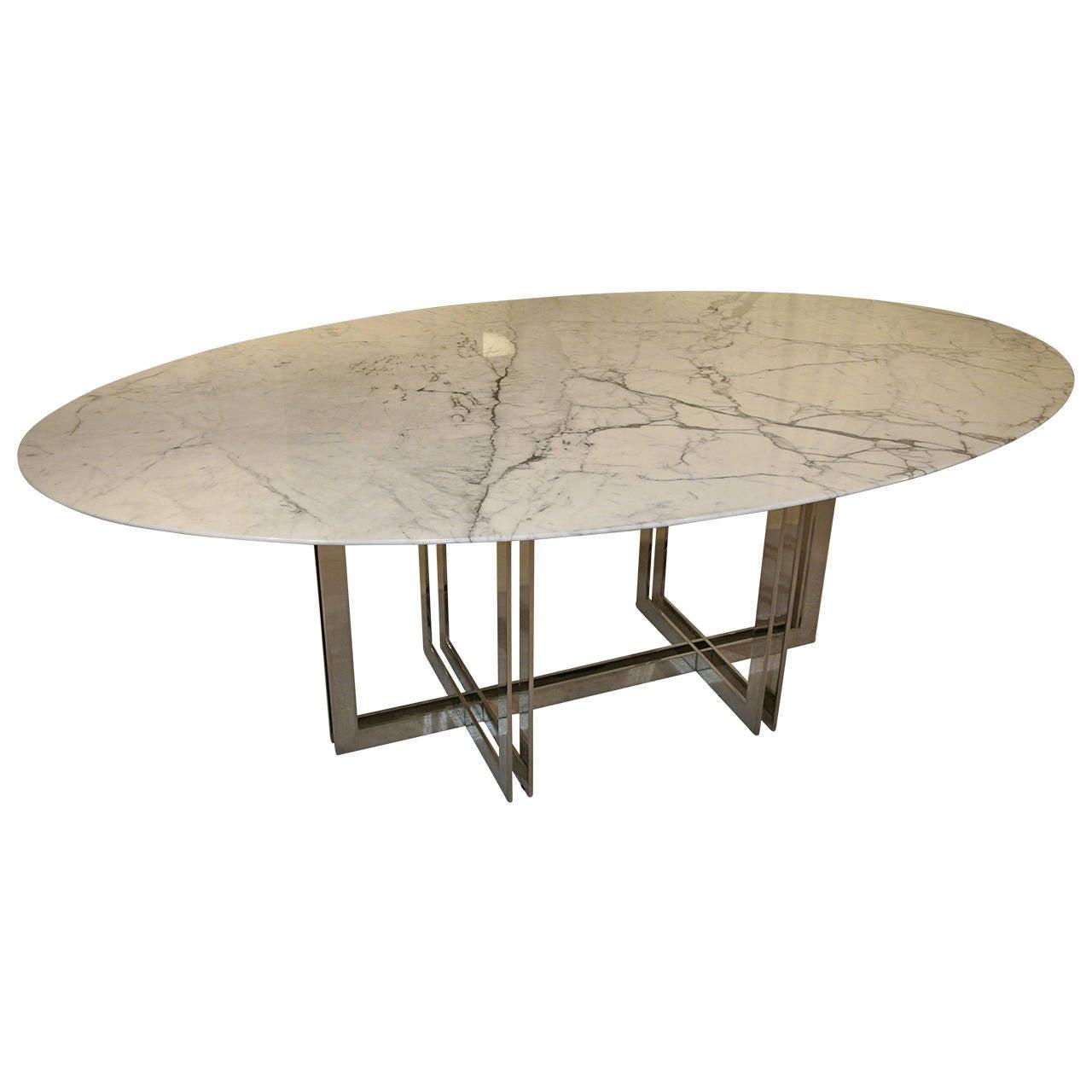 Emily Summers Studio Line Custom White Marble Dining Table For