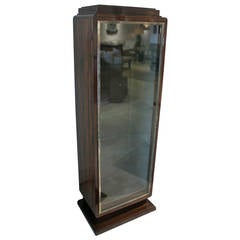 French Art Deco Style Calamander Vitrine Cabinet