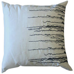 Emily Sumers Studio Line Waterfall Embroidery Pillow