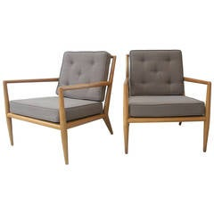 Vintage Pair of Robsjohn-Gibbings for Widdicomb Lounge Chairs