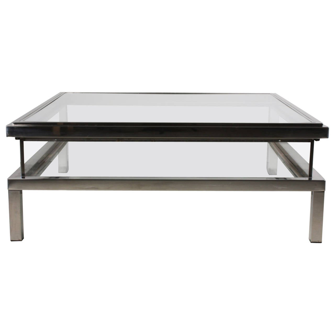 Maison jansen vitrine coffee table with sliding top at 1stdibs for Table vitrine