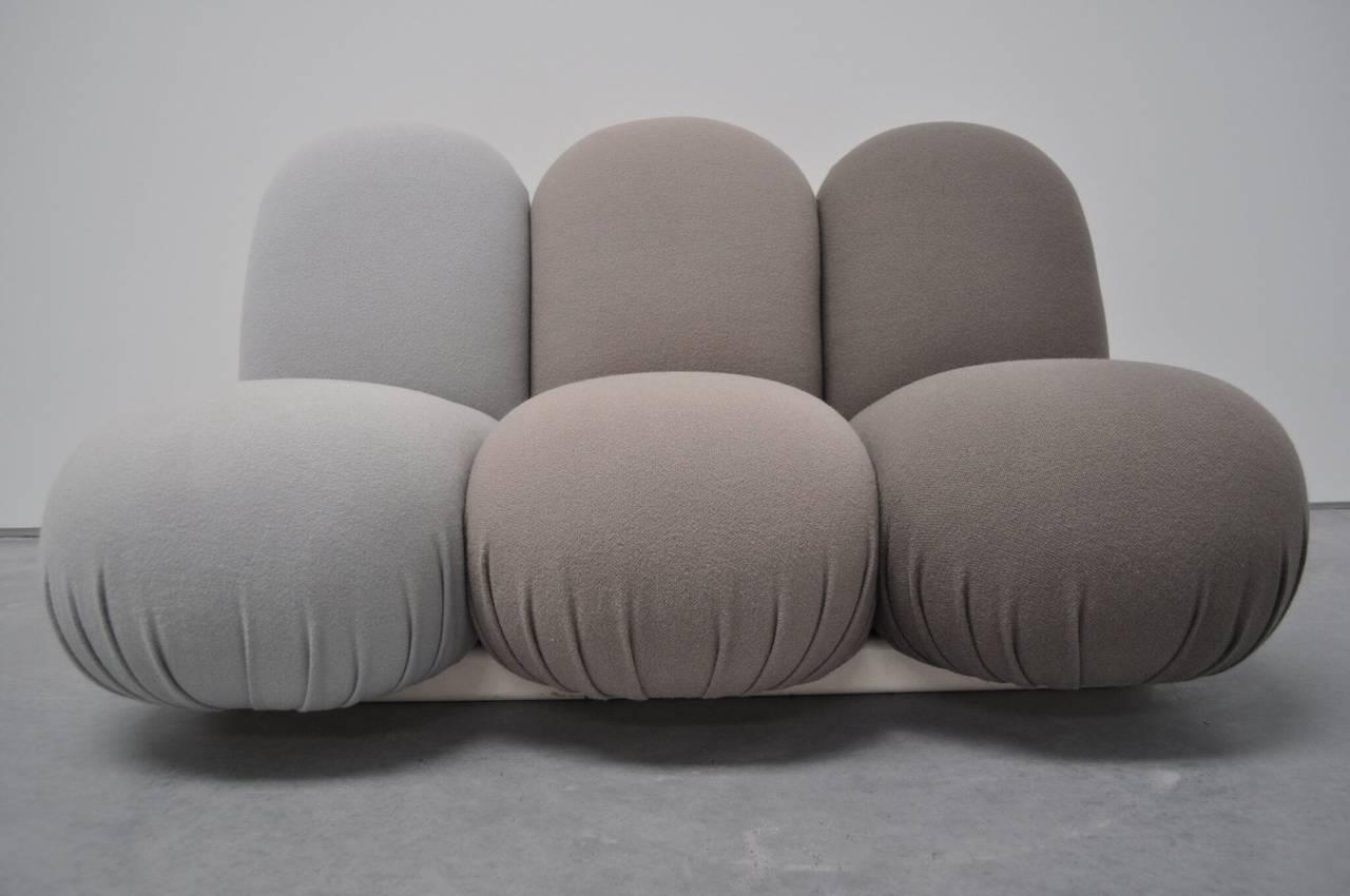 "Late 20th Century Pierre Paulin ""Blublub"" Three-Seat Sofa, 1972 For Sale"