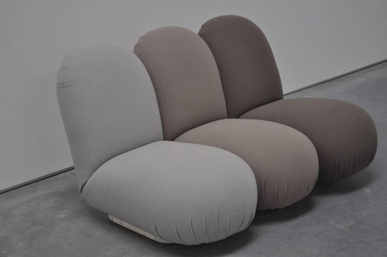 "Modern Pierre Paulin ""Blublub"" Three-Seat Sofa, 1972 For Sale"