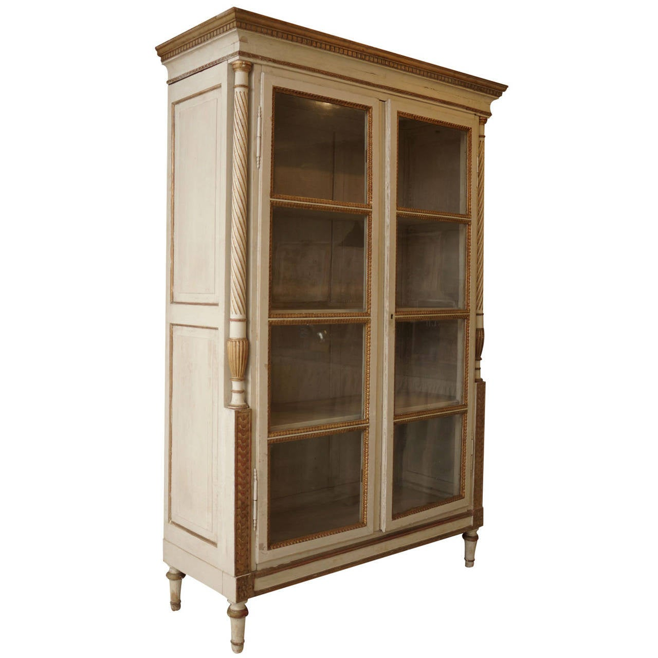 mid 19th century french painted and gilded bibliotheque at. Black Bedroom Furniture Sets. Home Design Ideas