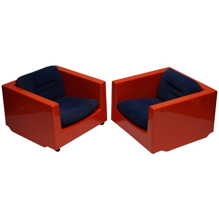 Two Lounge Chairs by Roger Tallon, circa 1970s For Sale