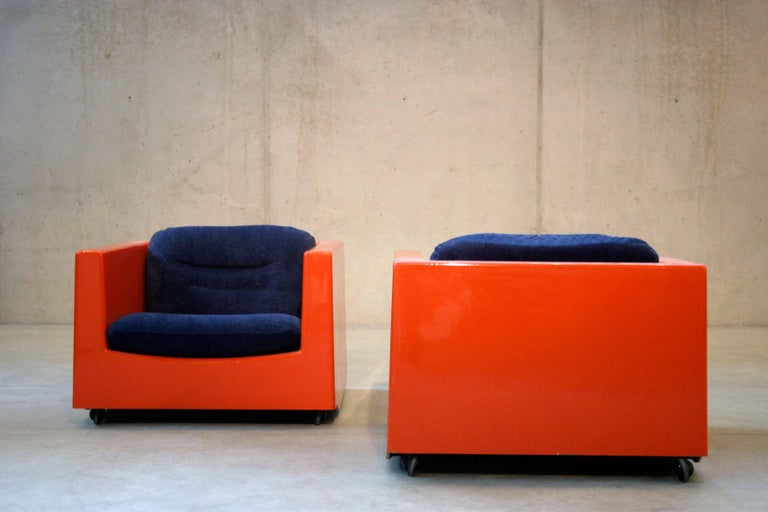 Two Lounge Chairs by Roger Tallon, circa 1970s In Good Condition For Sale In Antwerp, BE