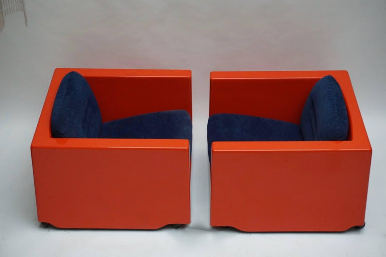 Two Lounge Chairs by Roger Tallon, circa 1970s For Sale 1