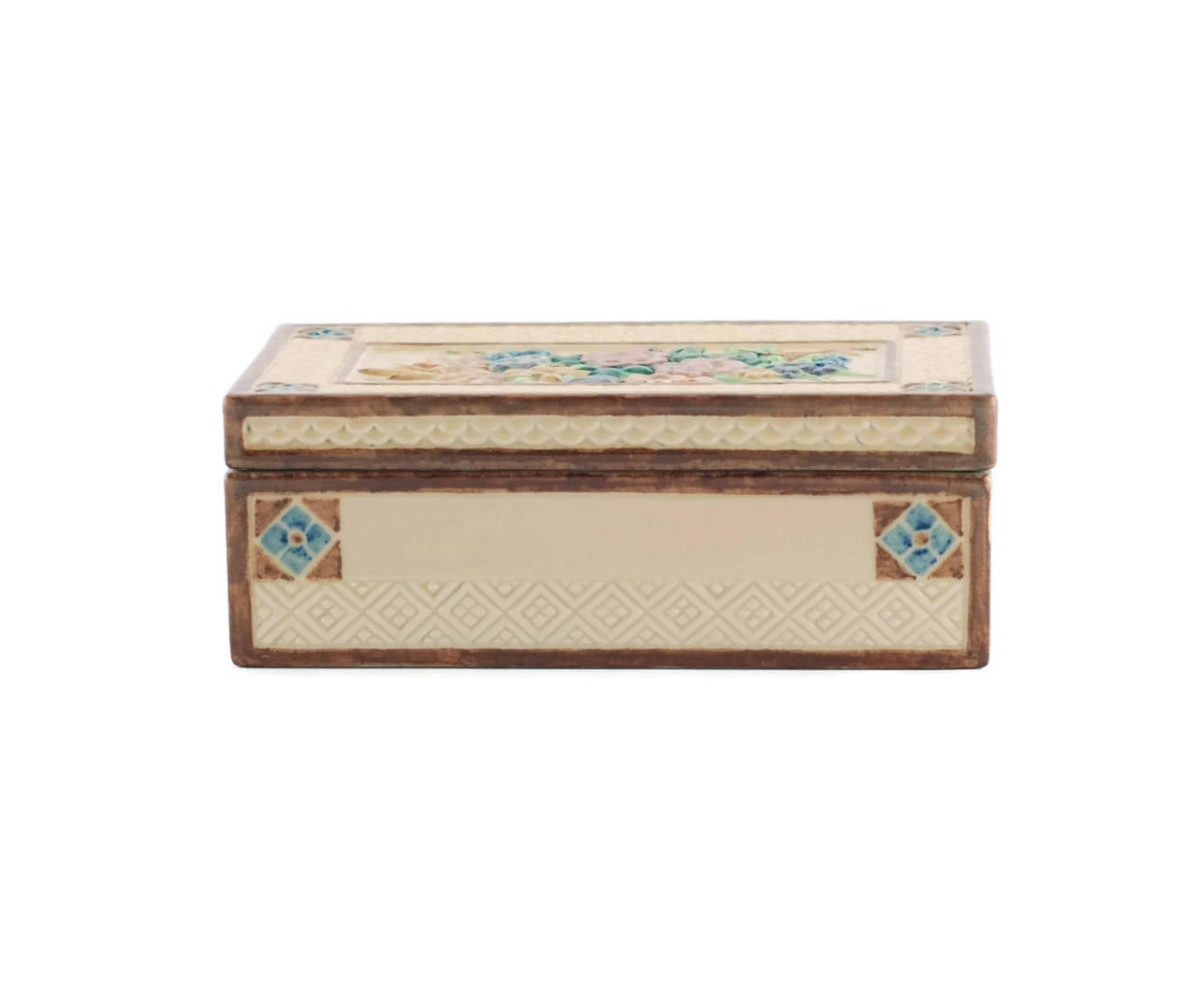 Signed Sara Sax Rookwood Pottery Lidded Rectangular Box In Excellent Condition For Sale In Cincinnati, OH