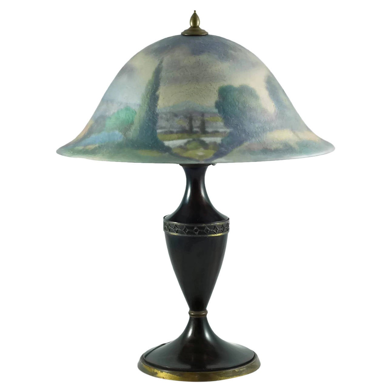 Pairpoint Reverse Painted Quot Copley Quot Lamp Shade With