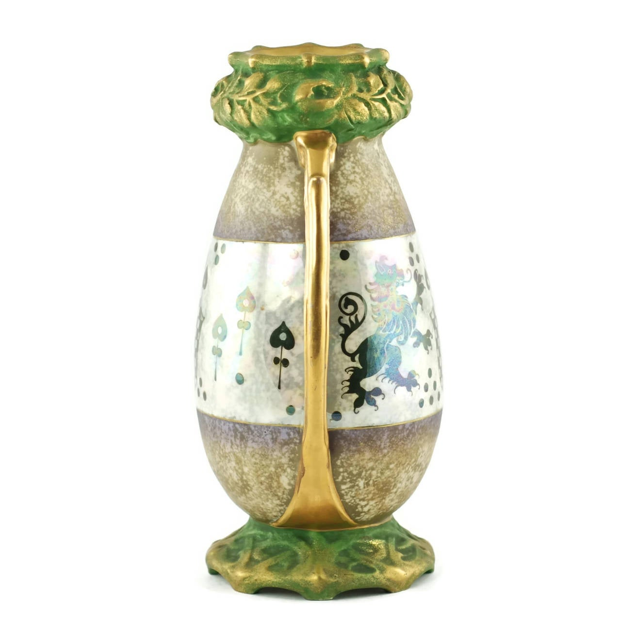 Riessner And Kessel Amphora Turn Teplitz Two Handled Vase