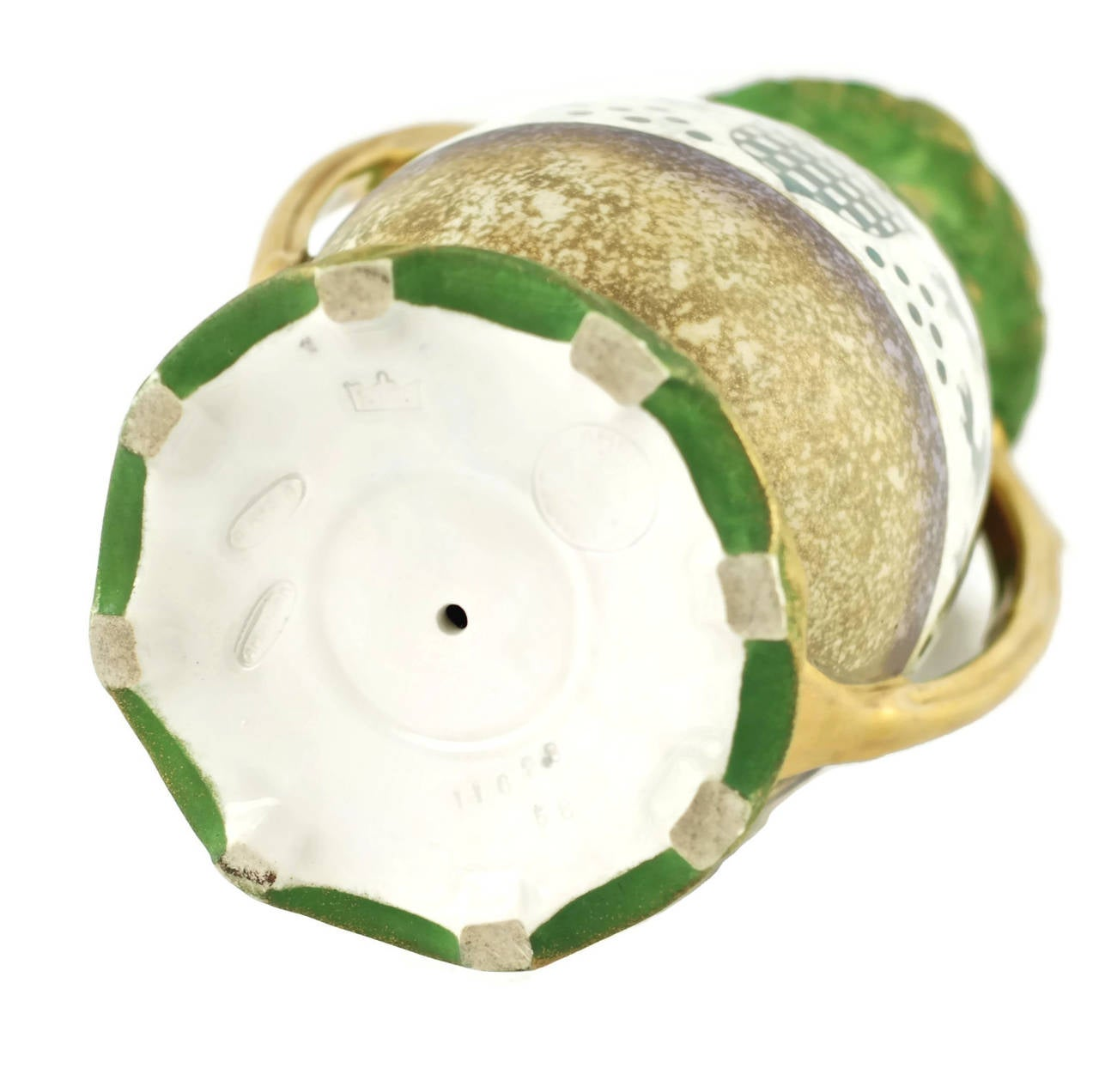 Porcelain Riessner & Kessel Amphora Turn Teplitz Two-Handled Vase with Iridized Glaze For Sale