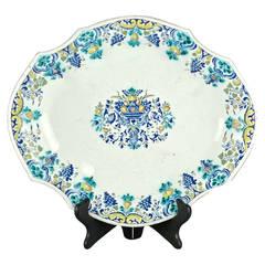 18th Century Polychrome Faience Lobed Platter