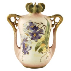 Paul Dachsel for Riessner, Stellmacher and Kessel Amphora Porcelain Vase