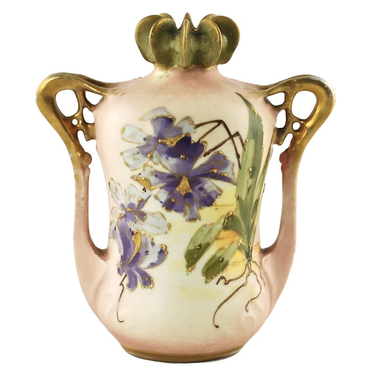 Paul Dachsel for Riessner, Stellmacher and Kessel Amphora Porcelain Vase For Sale
