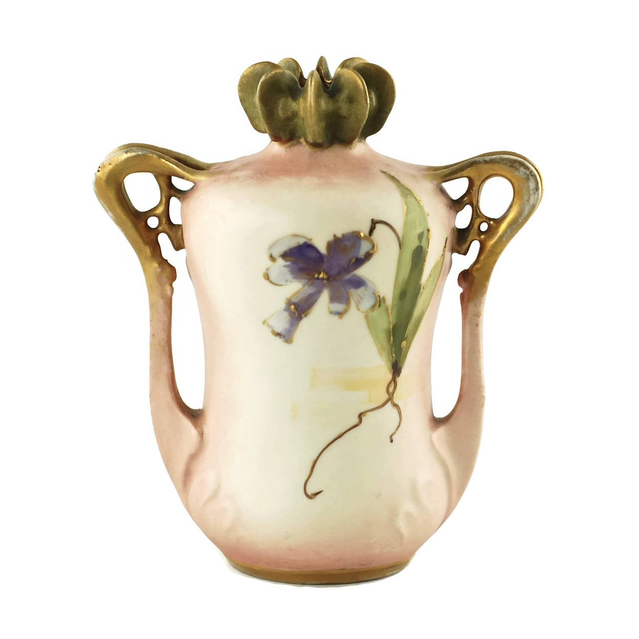 Art Nouveau Paul Dachsel for Riessner, Stellmacher and Kessel Amphora Porcelain Vase For Sale