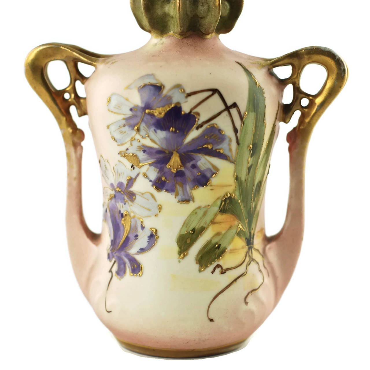 Hand-Painted Paul Dachsel for Riessner, Stellmacher and Kessel Amphora Porcelain Vase For Sale