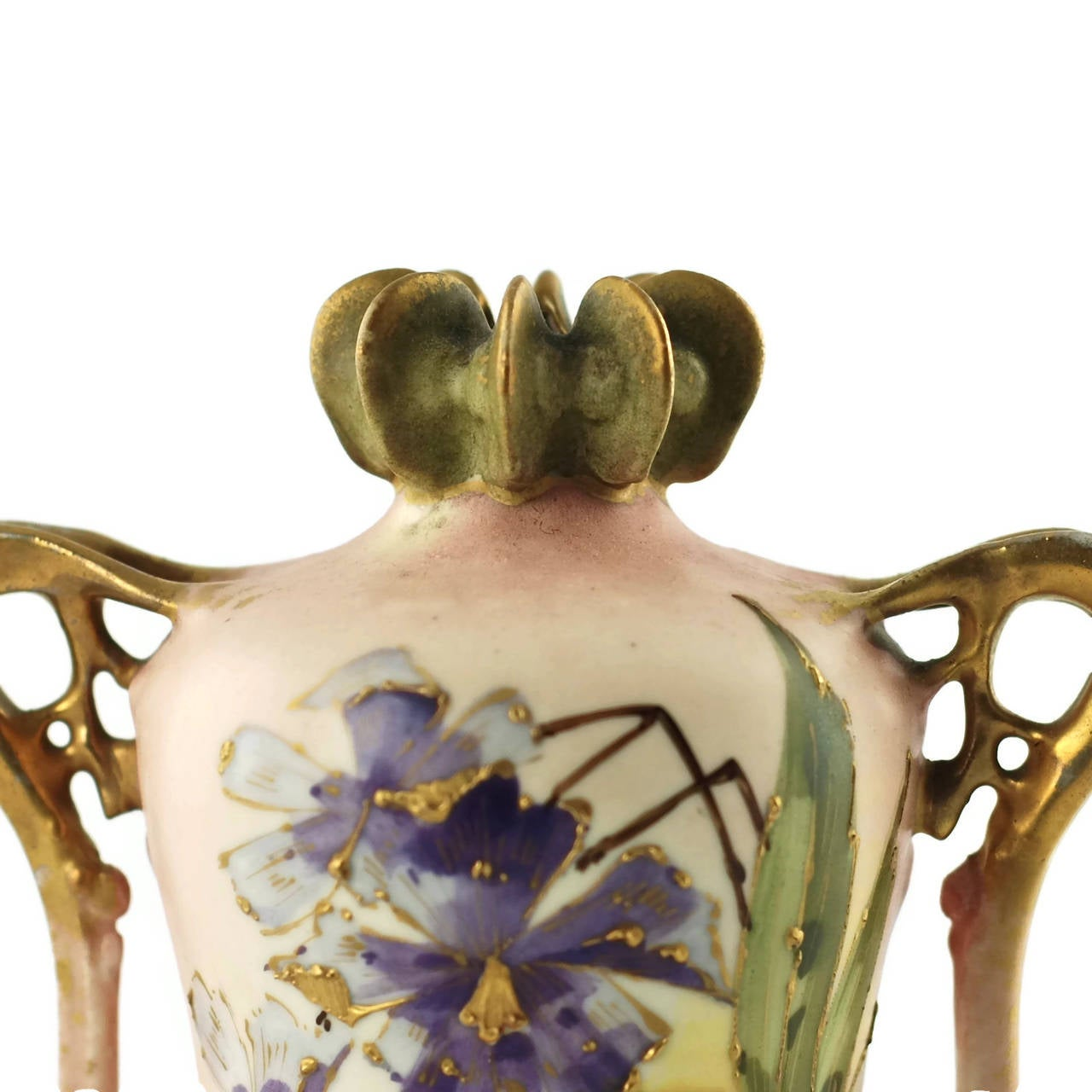 Paul Dachsel for Riessner, Stellmacher and Kessel Amphora Porcelain Vase For Sale 1