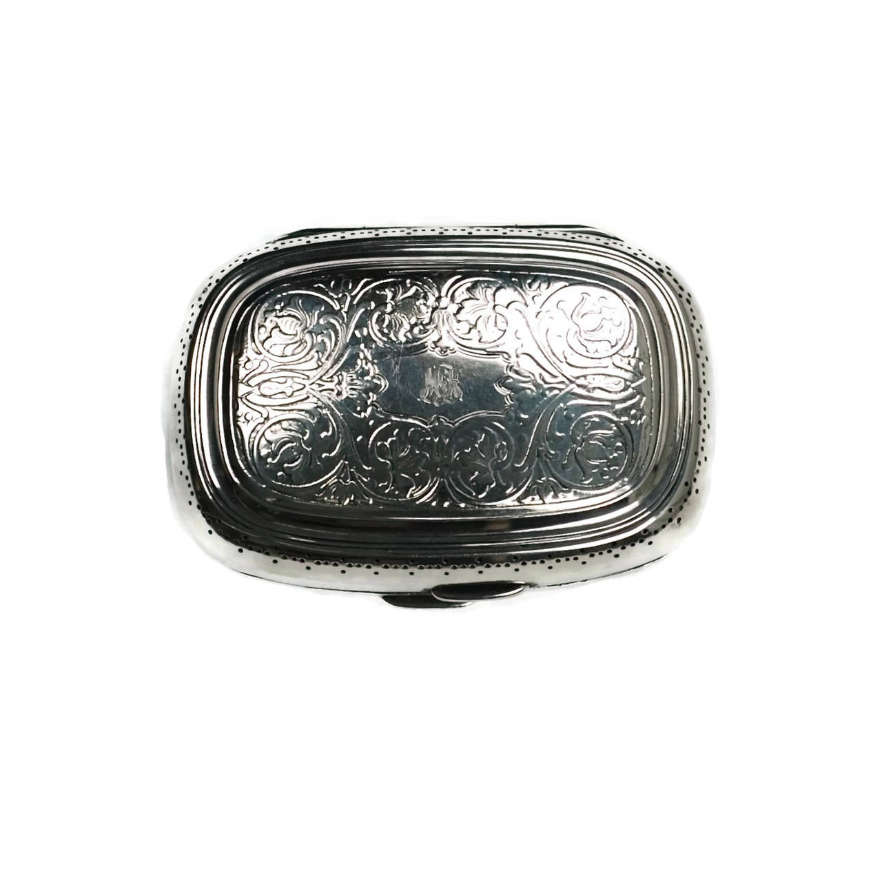 Edwardian Tiffany & Co. Sterling Silver 13-Piece Vanity Set For Sale 1