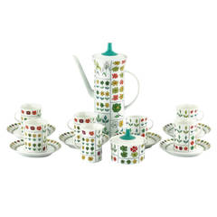 Emilio Pucci for Rosenthal 'Piemonte' Porcelain Coffee Set