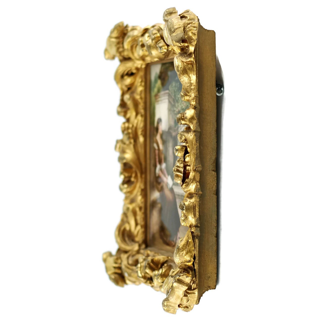 19th Century KPM Plaque Signed by Wagner in Giltwood Frame, 'Erinnerungen' For Sale 1