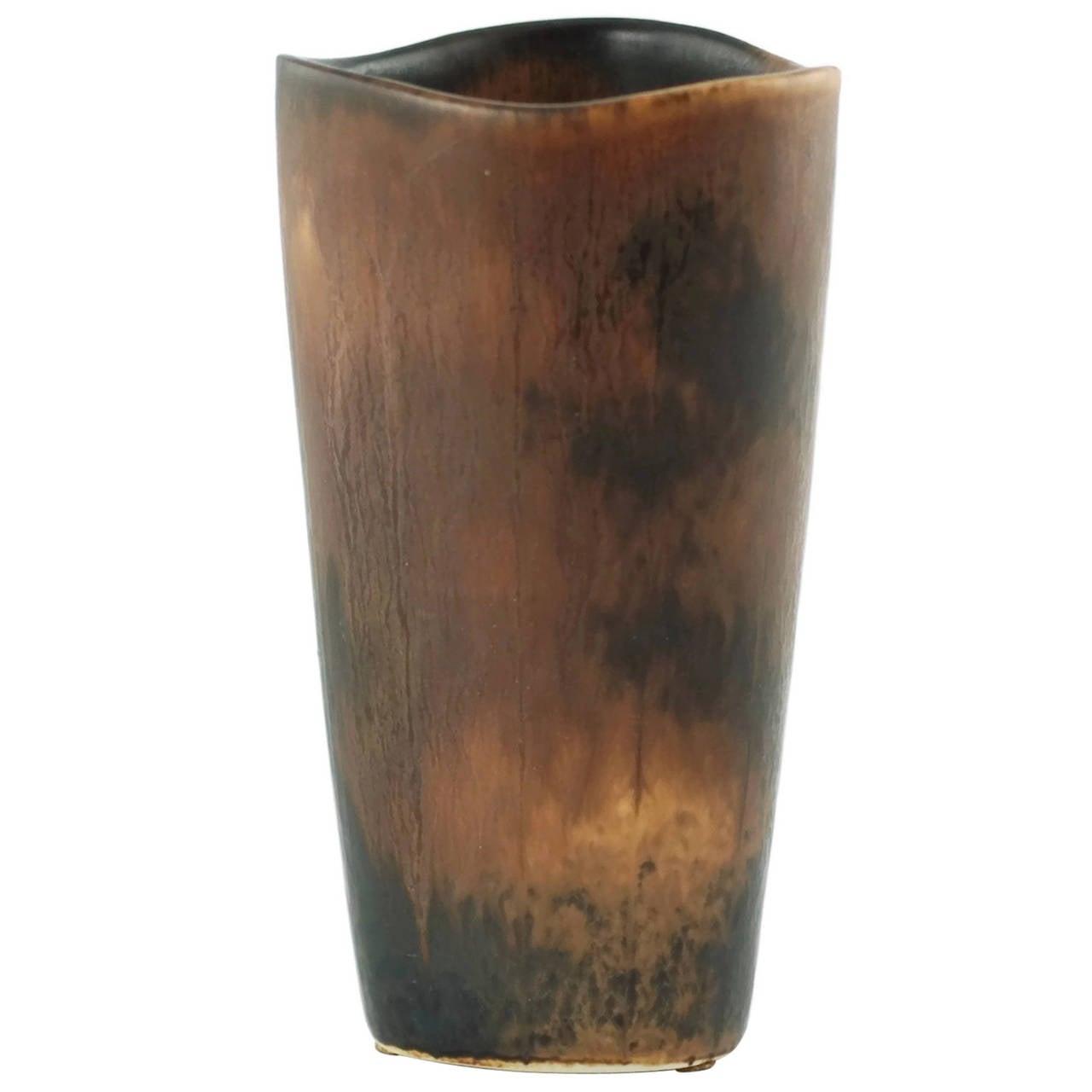 Gunnar Nylund for Rörstrand Studio Mid-Century Modern Stoneware Vase
