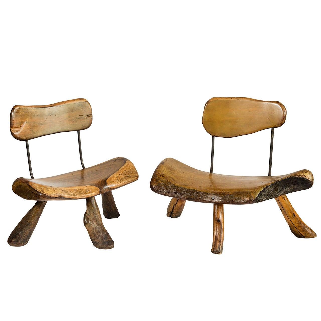 Handmade Wood And Iron Chairs At 1stdibs